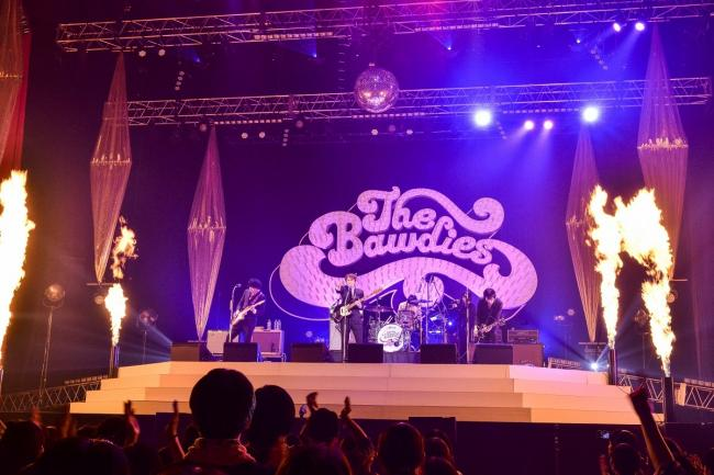THE BAWDIES 撮影=橋本塁(SOUND SHOOTER)