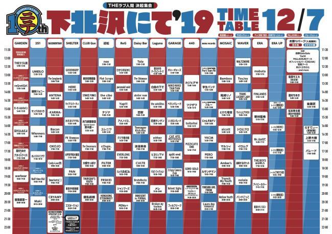 『下北沢にて'19』12月7日(土)