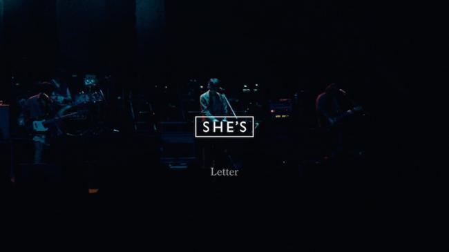 SHE'S「Letter」ライブ映像より